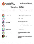 Quotation Match